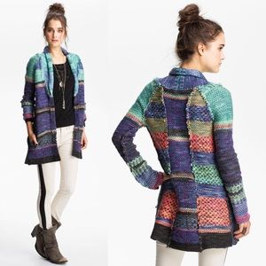 Free People Kryptonite Cardigan Rock Candy Combo
